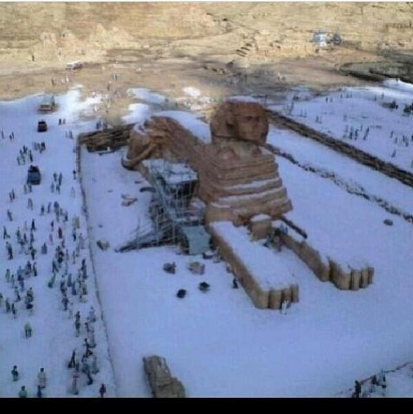 Snow in Egypt