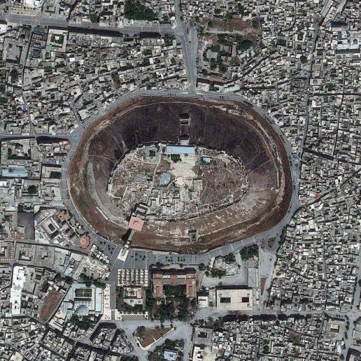 The Aleppo Citadel in Syria - DigitalGlobe