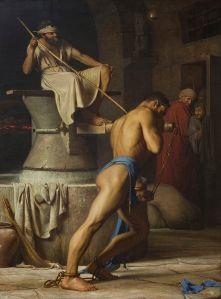 Samson in the Treadmill, by Carl Heinrich Bloch